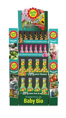 Picture of Baby Bio Indoor and Outdoor Mixed Display Unit 175ml  750ml