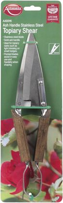 Picture of Ambassador Ash Handle Stainless Steel Topiary Shears Length 30cm