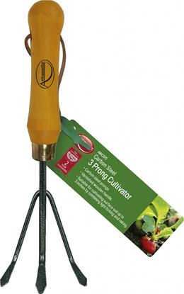 Picture of Ambassador Carbon Steel 3 Prong Cultivator