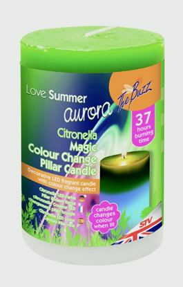 Picture of The Buzz Citronella LED Colour Change Candle