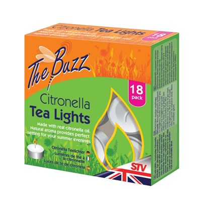 Picture of The Buzz Citronella Tea Lights 18 pack