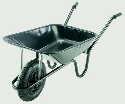 Picture of Walsall Wheelbarrows Builders Wheelbarrow With Pneumatic Tyre Black