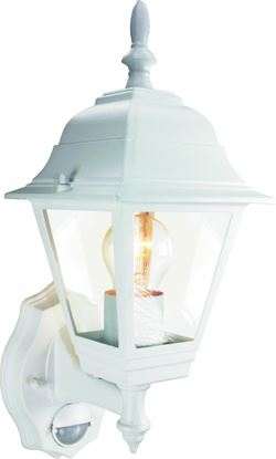 Picture of Byron 4 Panel Coach Lantern With PIR - 100W White