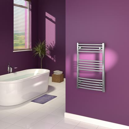 Picture of SupaPlumb Curved Towel Rail 600 X 1200mm Chrome