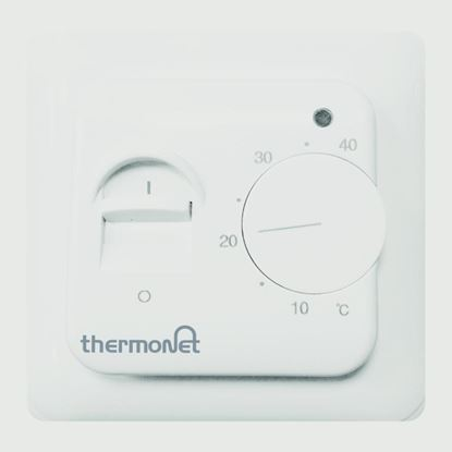 Picture of Thermonet Manual Thermostat White 16a