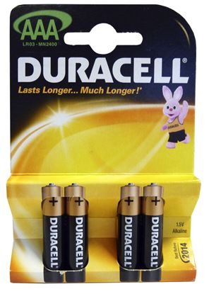 Picture of Duracell AAA Batteries Pack 4