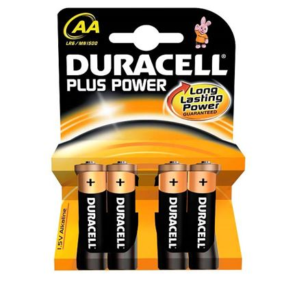 Picture of Duracell Alkaline Batteries AA - Pack 4