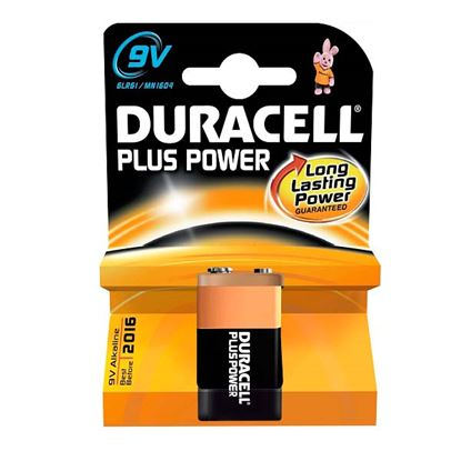Picture of Duracell Alkaline Battery 9V