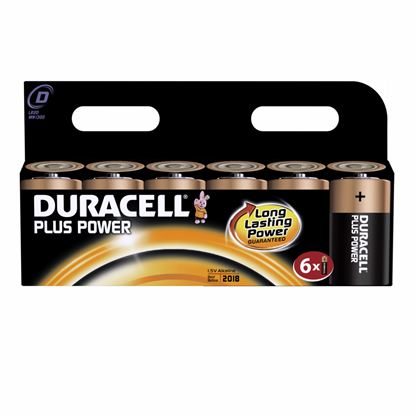 Picture of Duracell Duracell Plus Batteries D Pack 6
