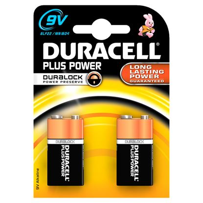 Picture of Duracell Plus 9V Pack 2