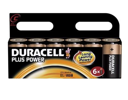 Picture of Duracell Plus Batteries Pack 6 C Cell