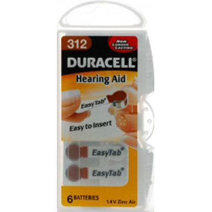 Picture of Duracell Hearing Aid Battery - 312 Pack 6