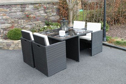 Picture of Culcita 5 Piece Cube Rattan Set with Cushions