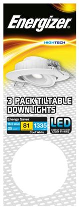 Picture of Energizer Tiltable Downlight Kit 16.5W White