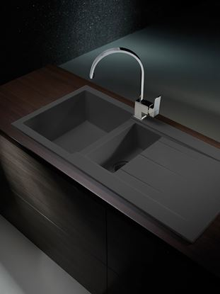 Picture of Pyramis Alazia 1 12 Bowl Composite Sink Carbon