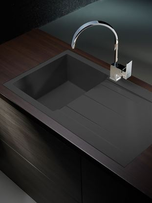 Picture of Pyramis Alazia 1 Bowl Composite Sink Carbon