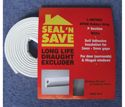 Picture of Stormguard Seal N Save EPDM P Section - 5m M15 White