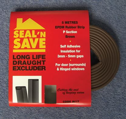 Picture of Stormguard Seal N Save EPDM P Section - 5m M17 Brown