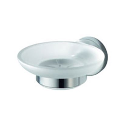 Picture of Aqualux Kosmos Glass Soap Holder Chrome