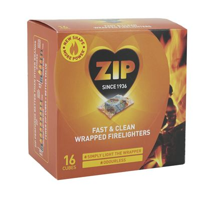 Picture of Zip Fast  Clean Wrapped Firelighters Pack 16