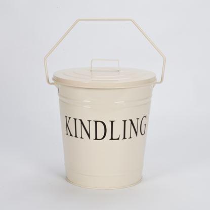 Picture of Inglenook Cream Kindling Bucket With Lid