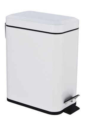 Picture of Blue Canyon Axus Rectangular Pedal Bin White 5L