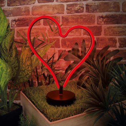 Picture of Global Gizmos 20cm LED Neon Light Heart