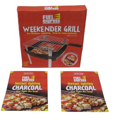 Picture of Fuel Express Weekender Grill Instant Light Charcoal 510g