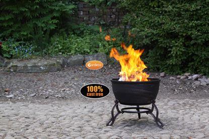 Picture of Gardeco Cast Iron Fire Bowl 45cm