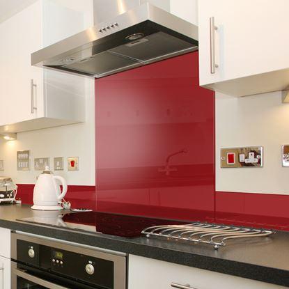 Picture of Mood Splashbacks Glass Splashback Red 60X75cm