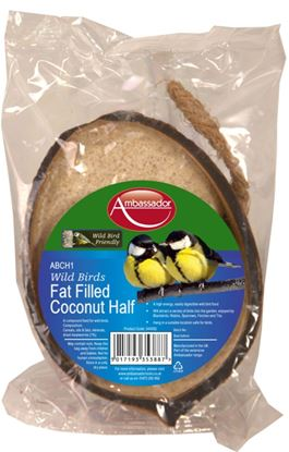 Picture of Ambassador Fat Filled Coconut Half Bird Food 200g