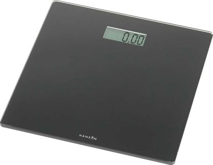 Picture of Hanson Black Glass Electronic Bathroom Scale Black 150kg