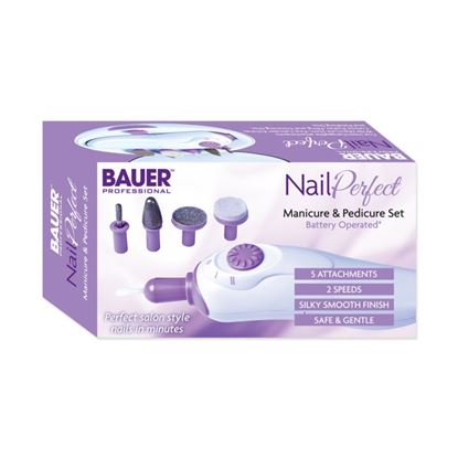 Picture of Bauer Nail Perfect Manicure  Pedicure Set Battery operated