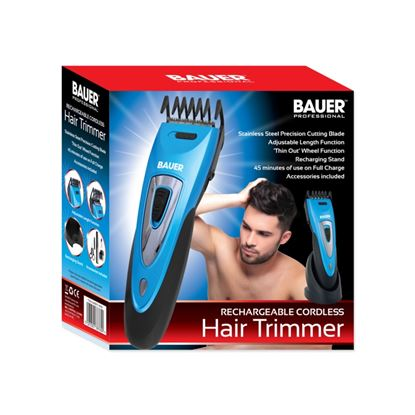 Picture of Bauer Rechargeable Cordless Hair Trimmer Metallic