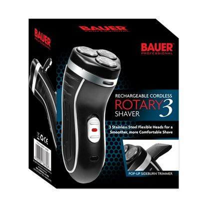 Picture of Bauer Smooth Action Cordless Rotary 3 shaver 3-Head rechargeable