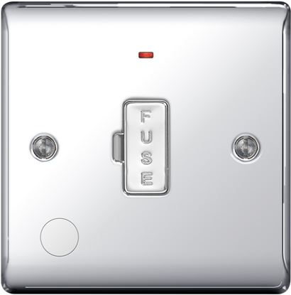 Picture of BG Chrome Unswitched Fused Connection Unit 13a