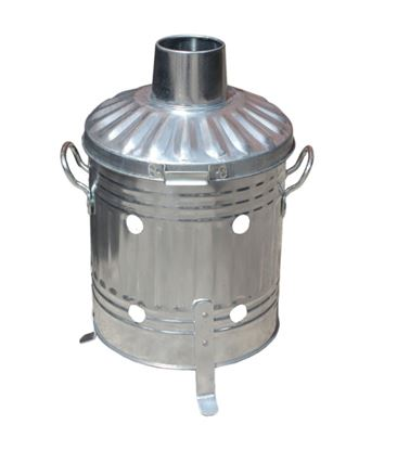 Picture of Ambassador Galvanised Mini Garden Incinerator Tapered 27.5cm