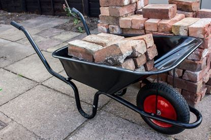 Picture of Ambassador Boxed Black Builders Wheelbarrow 90L