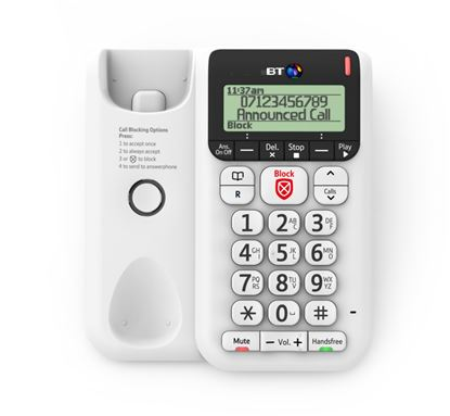 Picture of BT Corded Desk Phone Dcor 2600