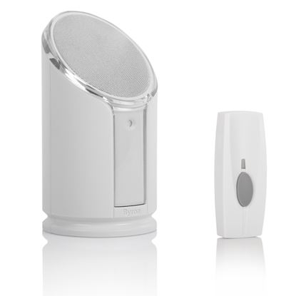 Picture of Byron BY301 100m Wireless Doorbell with Portable Extra Loud and Flashing Chime 100m 8 Melody Extra Loud