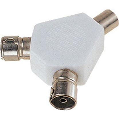 Picture of Dencon 2 Way Coax Splitter Bubble Packed