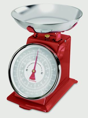 Picture of Terraillon Traditional Kitchen Scales 150kg Red