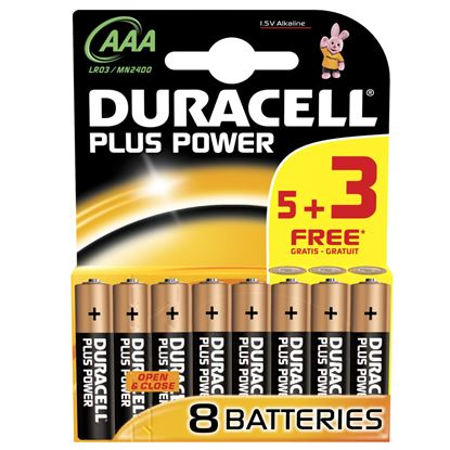 Picture of Duracell Plus Power Batteries 5  3 Free AAA