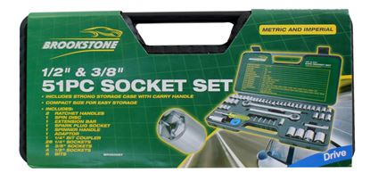 Picture of Brookstone Socket Set 51 Piece