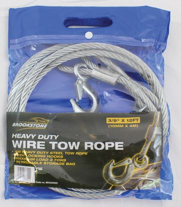 Picture of Brookstone Touring Wire Tow Rope 38IN X 12 FT