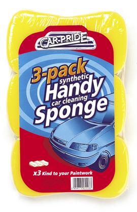 Picture of Car Pride Handy Car Sponges Pack 3