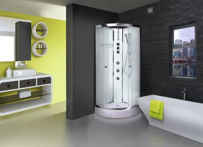 Picture of Aqualusso ILock White Shower Cabin 900mm