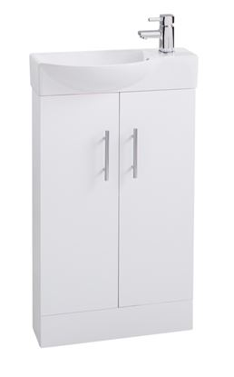 Picture of Cassellie 2 Door Mini White Unit  Basin 500mm