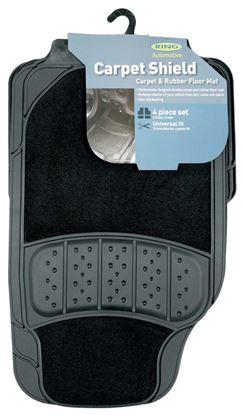 Picture of Ring Carpet Shield Rubber  Carpet Floor Mat Black