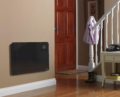 Picture of Dimplex 800w Slimline Low Wattage Panel Heater With Timer Black